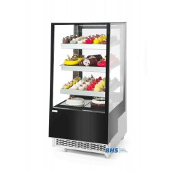 Refrigerated display cabinets with 3 slanted shelves 300L