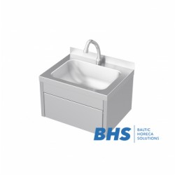 Non-contact sink with knee mixer