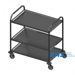 Stainless steel serving trolley VTS3