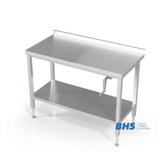 Reguleeritava kõrgusega laud riiuliga
