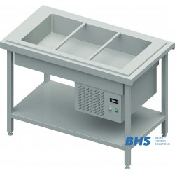 Chafing dish with a spacer 3xGN1/1