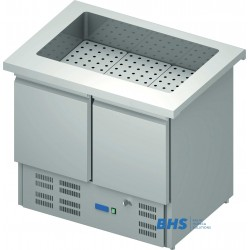 Cold chafing dish 1000 mm  with a refrigerator