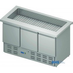 Cold chafing dish 1465 mm  with a refrigerator