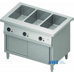 Cold chafing dish 3 GN1/1 with separator and heated cupboard