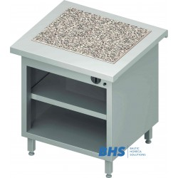 Hot granite surface 2 GN1/1 with shelf