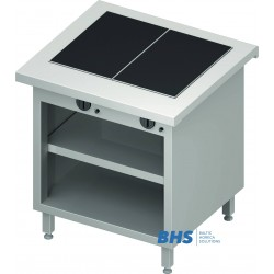 Hot ceramic surface 2 GN1/1 with shelf