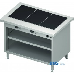 Hot ceramic surface 3 GN1/1 with shelf