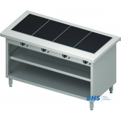 Hot ceramic surface 4 GN1/1 with shelf
