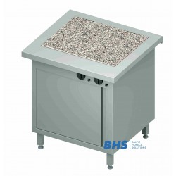 Hot granite surface 2 GN1/1 with heated cupboard