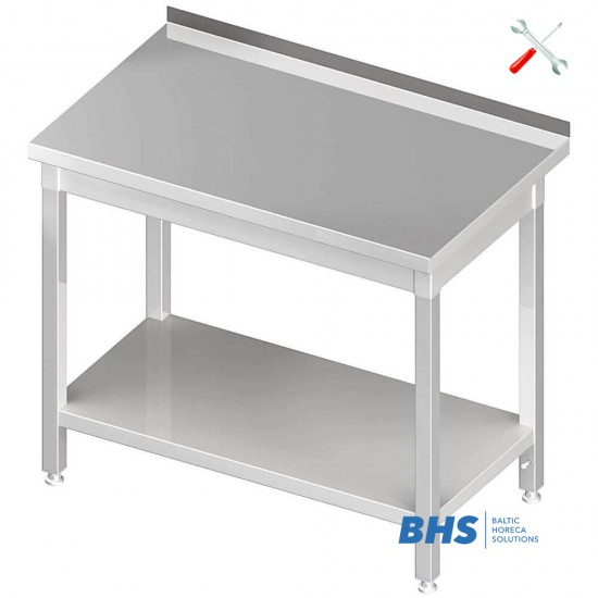 Easy folding table with shelf