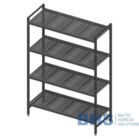 Modular shelving unit with removable plastic shelves