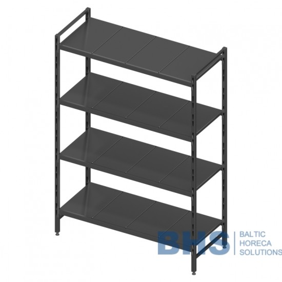 Modular shelving unit with removable plate shelves