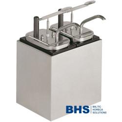 Sauce dispenser with 2 pumps