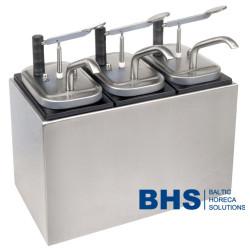 Sauce dispenser with 3 pumps