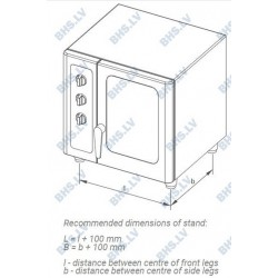 Universal stand for convection oven 500-55