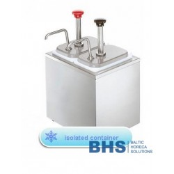 Dispensers with insulation with 2 pumps
