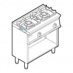 Gas stove with 2 burners PCGM8FG7