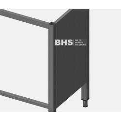 Rear panel for frame
