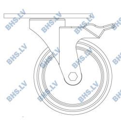 Set of galvanized wheels RC 125 mm