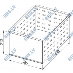 Perforated insert for beer boxes drawers