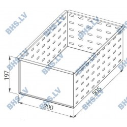 Perforated insert for drawer over monoblock