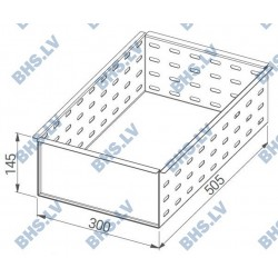 Perforated insert for small drawers