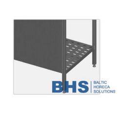 Rear panel for metal shelf