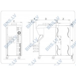 Electromechanical batch freezer BFE400A