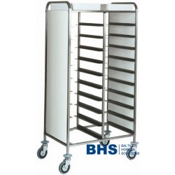 Trolley for 20 trays with side panels