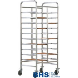 Reinforced trolley for 20 trays with side panels