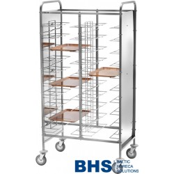Universal trolley for 10 trays with side panels