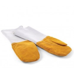 Leather protective gloves