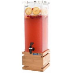Beverage dispenser 7.5 L with bamboo pad