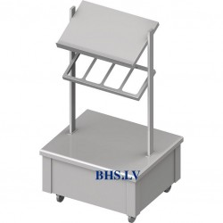 Sideboard for trays, cutlery