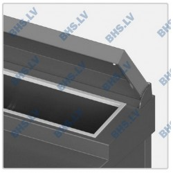 Stainless steel lid for salad counter