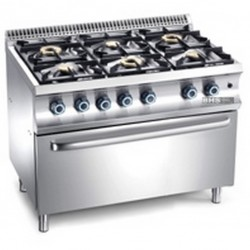Gas stove with MXS 41.0 kW