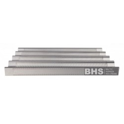 Aluminium perforated tray 5 canals with support 600x400