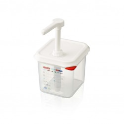 Pump dispenser for sauces GN1/6