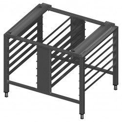 Universal stand for convection oven with guide rails for 12 GN1/1 trays
