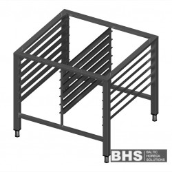 Stand for convection oven with guide rails for 12 GN1/1 trays