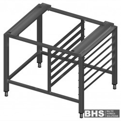 Universal stand for convection oven with guide rails for 6 GN1/1 trays