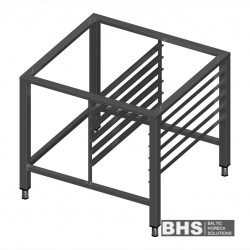 Stand for convection oven with guide rails for 6 GN1/1 trays