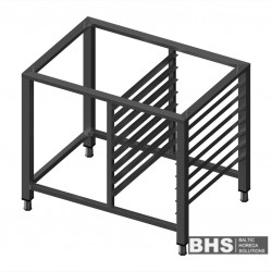Universal stand for convection oven with guide rails for 8 GN1/1 trays