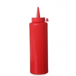 Dispenser for sauces 350 ml, red