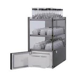 Heating cup shelf