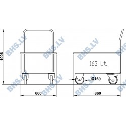 Plate rack trolley TETI