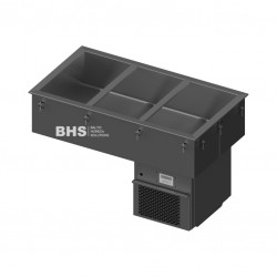 Drop-in cold basin for 3 GN1/1 1080 mm