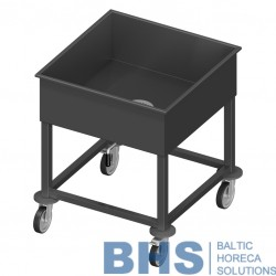 Trolley for cutlery with valve