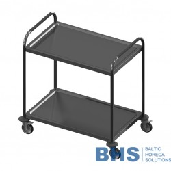 Stainless steel serving trolley VTS2