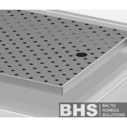 Removable drainboard (height: 20 mm)